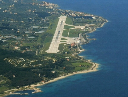 Aerial view of Lesvos airport