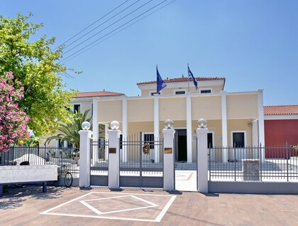 The archaeological museum at Mytilene
