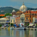 Partial view of Mytilene's picturesque port
