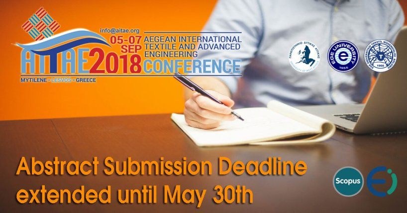 Extension of abstracts submission deadline